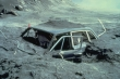 Most of the damage appears to be at the front of the vehicle, indicating - Mr. Wykes - that you ran in to the volcano.  Not the other way around, as you would have us believe.