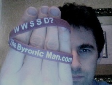So what WOULD Sexy Stalin do?  He'd request himself a wristband post haste, and then send a picture of it to The Byronic Man, that's what.