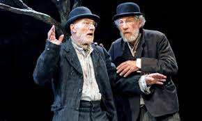 Vladimir and Estragon wait for the Lewinsky jokes to end.